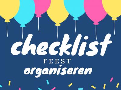 Checklist feest organiseren